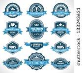 vintage labels and ribbons set. ... | Shutterstock .eps vector #133243631