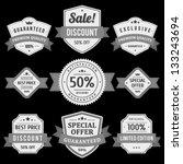 vintage labels and ribbons set. ... | Shutterstock .eps vector #133243694