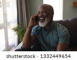front view of happy senior man...   Shutterstock . vector #1332449654