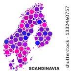 mosaic scandinavia map isolated ... | Shutterstock .eps vector #1332460757