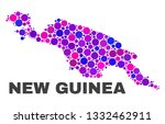 mosaic new guinea map isolated... | Shutterstock .eps vector #1332462911