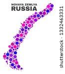 mosaic novaya zemlya islands... | Shutterstock .eps vector #1332463331