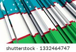 abstract flag of uzbekistan. 3d ... | Shutterstock . vector #1332464747