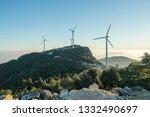 windmill mountain power plant   Shutterstock . vector #1332490697