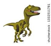 tyrannosaurus rex dinosaur... | Shutterstock .eps vector #1332511781