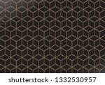 golden outline geometric... | Shutterstock .eps vector #1332530957