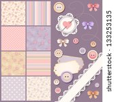scrapbook design elements | Shutterstock .eps vector #133253135