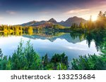 mountain lake in national park... | Shutterstock . vector #133253684