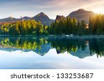 mountain lake in national park... | Shutterstock . vector #133253687