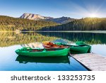 Reflection In Water Of Mountai...