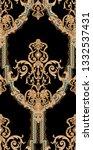 golden elements in baroque ... | Shutterstock . vector #1332537431