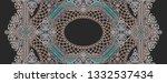golden elements in baroque ... | Shutterstock . vector #1332537434