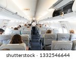 interior of commercial airplane ... | Shutterstock . vector #1332546644