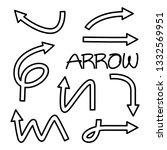 doodle arrow vector illustration | Shutterstock .eps vector #1332569951