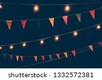 party flags decorated in a... | Shutterstock . vector #1332572381