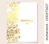 romantic wedding invitation... | Shutterstock .eps vector #1332572627