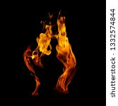 fire isolated on a black... | Shutterstock . vector #1332574844