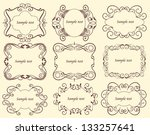set of decorative frames in... | Shutterstock .eps vector #133257641