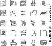 thin line icon set   passport...   Shutterstock .eps vector #1332602297