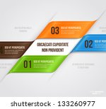 modern infographic template for ... | Shutterstock .eps vector #133260977
