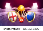 cricket match between england... | Shutterstock .eps vector #1332617327