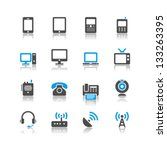communication device icons... | Shutterstock .eps vector #133263395