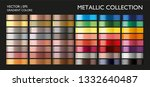metal color gradient set. gold  ... | Shutterstock .eps vector #1332640487
