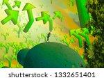 2d illustration. abstract...   Shutterstock . vector #1332651401