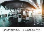 a modern empty funicular cabin... | Shutterstock . vector #1332668744