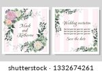 vector template for wedding... | Shutterstock .eps vector #1332674261