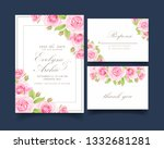 floral wedding invitation with... | Shutterstock .eps vector #1332681281
