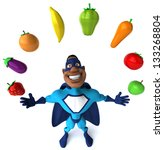 black superhero | Shutterstock . vector #133268804