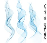 set of abstract horizontal blue ... | Shutterstock .eps vector #1332688397