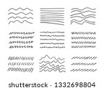 hand drawn set of objects for... | Shutterstock .eps vector #1332698804
