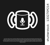 black voice assistant icon... | Shutterstock .eps vector #1332709214
