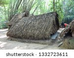 Hideout used by the vietcongs at the Cu Chi Tunnels of Ben Duoc, in Ho Chi Minh, Vietnam
