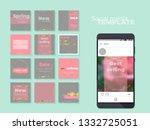 social media feed template.... | Shutterstock .eps vector #1332725051