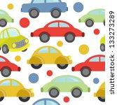 cute transport seamles | Shutterstock .eps vector #133273289