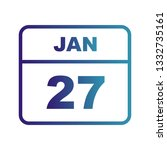 january 27th date on a single... | Shutterstock .eps vector #1332735161