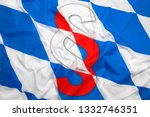bavaria flag with red paragraph ... | Shutterstock . vector #1332746351