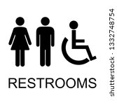 restrooms vector icon | Shutterstock .eps vector #1332748754