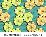 textile fashion  african print... | Shutterstock .eps vector #1332750341