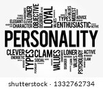 personality word cloud collage  ... | Shutterstock .eps vector #1332762734