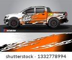 truck wrap decal design vector. ... | Shutterstock .eps vector #1332778994