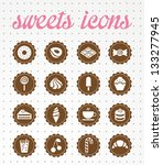 sweets icons | Shutterstock .eps vector #133277945