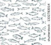 seamless pattern hand drawn...   Shutterstock . vector #1332783014