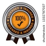 licensed and insured. vector... | Shutterstock .eps vector #1332787037