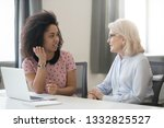 diverse old and young female... | Shutterstock . vector #1332825527