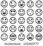 vector icons of smiley faces | Shutterstock .eps vector #133283777