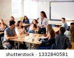 female high school teacher... | Shutterstock . vector #1332840581